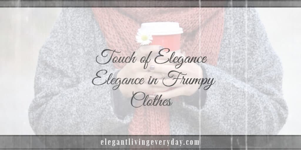 Touch of Elegance- Elegance in Frumpy Clothes