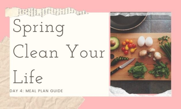 Spring Clean Your Life Series- Day 4: Meal Plan Guide