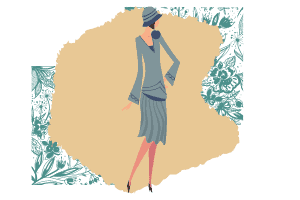 Elegant Blog: A woman in a blue skirt and dress