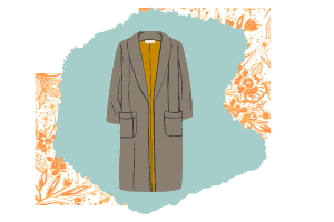A vector of a trench coat